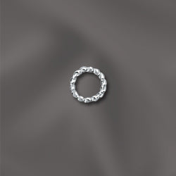 SS/TJR28/4 - Sterling Silver Twisted Open Jump Rings, 4mm | Pkg 10