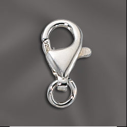 SS/307 - Sterling Silver Lobster Claw Clasp, 10mm | Pkg 1