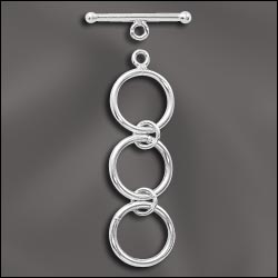 SS/4151 - Sterling Silver 12mm Toggle Clasp With Extender | 1 Set
