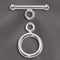 SS/4000 - Simple Sterling Toggle Clasp, 12mm | Pkg 1