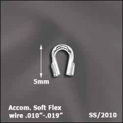 SS/2010 - Sterling Silver Wire Guardians, For .010 to .019 Wire | Pkg 20