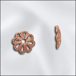 GC292/6 - Genuine Copper Open Petal Bead Caps,6mm | Pkg 20