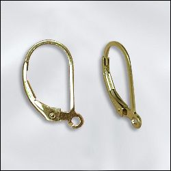 GF/202 - Gold Filled Lever Back, 14mm | 1 Pair