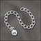 CE/3S - Silver Chain Extender With 5mm Bead,3 Inch | Pkg 1