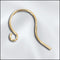 JW102G - Earring Findings, Gold Plated With Front Loop | Pkg 12