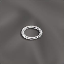 JR/032X4X6S - Silver Plated Oval Jump Rings, 4x6mm | Pkg 50