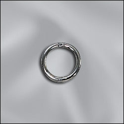 JR/036x6GM - Jump Rings,Gunmetal,6mm,Open | Pkg 25