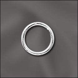 JR/036X8S - Silver Plated Open Jump Rings, 8mm, 19 Gauge | Pkg 20