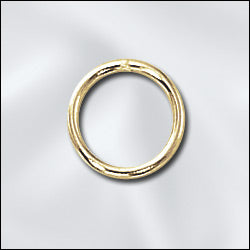 JR/040X10G -  Gold Plated Open Jump Rings, 10mm | Pkg 10