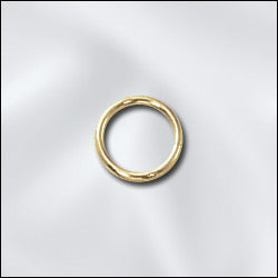 JR/028x6G -  Gold Plated Open Jump Rings,6mm | Pkg 20