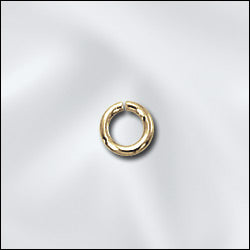 JR/032X4G - Gold Plated 4mm Open Jump Rings | Pkg 20