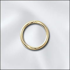 JR/032X8G - Gold Plated 8mm Open Jump Rings | Pkg 40
