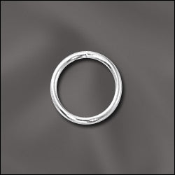 JR/032X8S - Silver Plated Open Jump Rings, 8mm | Pkg 20