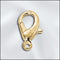 LC/AI702C/G - Gold Plated Lobster Claw Clasp, 12.5mm | Pkg 2
