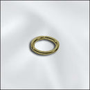 JR/032X4X6AB - Antique Brass Oval Jump Rings, 4x6mm, Open | Pkg 40