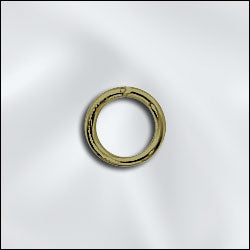 JR/032X6AB - Antique Brass Open Jump Rings,6mm | Pkg 20
