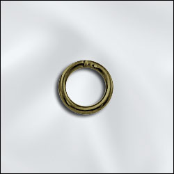 JR/036X6AB - Open Jump Rings,Antique Brass,6mm | Pkg 20