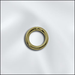 JR/040x6AB - Antique Brass Open Jump Rings,8mm | Pkg 20