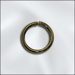 JR/040X8AB - Antique Brass Open Jump Rings,8mm | Pkg 20