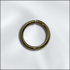 JR/040X8AB - Antique Brass Open Jump Rings, 8mm | Pkg 20
