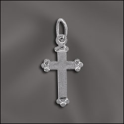 JW/CR1/CR3/S - Silver Plated 17mm Cross | Pkg 6