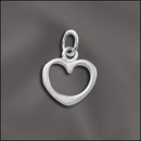 PW/CR5/HT14/S - Silver Pewter 10mm Heart Charm | Pkg 2