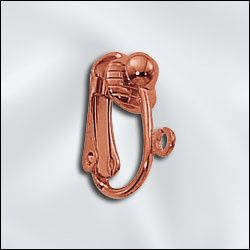 GC230 - Genuine Copper Ear Clip With Half Ball And Open Ring | Pkg 6