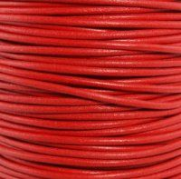 GL/005/1 - Leather Cord, Red, 1mm | Pkg 4 Feet