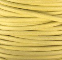 GL/125/1 - Leather Cord, Primrose, 1mm | Pkg 4 Feet