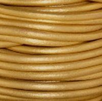 GL/042/2 - Leather Cord, Gold, 2mm | Pkg 4 Feet