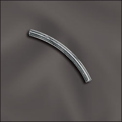 JW9006/2x25S - Silver Plated Curved Bar, 2x25mm | Pkg 10