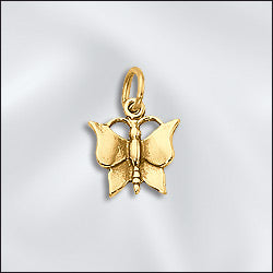 CL-JW/CR1/BF/G - Gold Plated Butterfly Charms, 12.5x13mm | Pkg 2