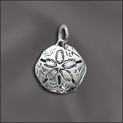JW/CR1/SD/S - Silver Charm, Sand Dollar, 16x18.5mm | Pkg 1