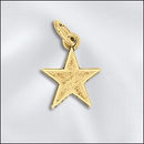 CL-JW/CR1/ST1/G - Gold Plated Star Charm, 13x16mm | Pkg 2