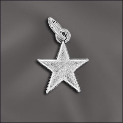 CL-JW/CR1/ST1/S - Silver Plated 13x16mm Star Charm | Pkg 2