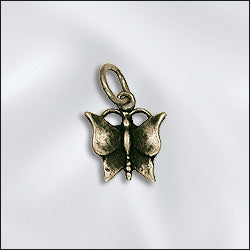 CL-JW/CR1/BF/AB -  Antique Brass Butterfly Charms, 12.5mm | Pkg 2