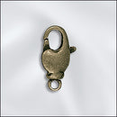 LCB/302AB - Antique Brass Lobster Swivel Clasp, 12mm | Pkg 2