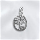 SS/CR5/TOLHT - Sterling Silver Charm, Tree Of Life With Heart, 12x17mm | Pkg 1