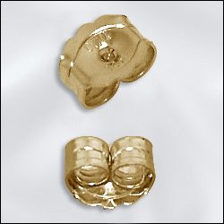 GF/500 - Gold Filled Butterfly Friction Nuts | Pkg 10
