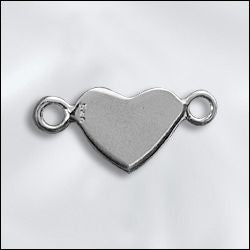 SS/CR5/2RHT - Sterling Silver Charm, Heart With 2 Rings | Pkg 1