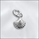 SS/CR5/SH - Sterling Silver 7mm Sea Shell Charm | Pkg 1