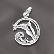 SS/CR5/SDP - Sterling Silver 14mm Dolphin Charm | Pkg 1