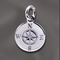 SS/CR5/CO - Sterling Silver 11mm Compass Charm | Pkg 1