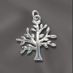 SS/CR5/FTOL - Sterling Silver Family Tree Of Life Charm, 19x16mm | Pkg 1