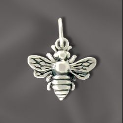 SS/A699 - Sterling Silver 12mm Honey Bee Charm | Pkg 1