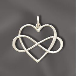 SS/S2977 - Sterling Silver Infinity Heart Pendant, 23x18mm | Pkg 1