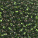6-26F - 6/0 Matte Silver-Lined Olive Miyuki Seed Bead | 25 Grams