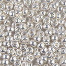 6-961 - 6/0 Bright Sterling Plated Miyuki Seed Bead | 25 Grams
