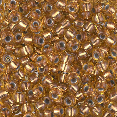 6-971 - 6/0 Copper Lined Pale Amber (Like DB0181) Miyuki Seed Bead | 25 Grams