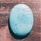GM-0430 - Blue Magnesite Oval Gemstone Pendant, 30x40mm | Pkg 1